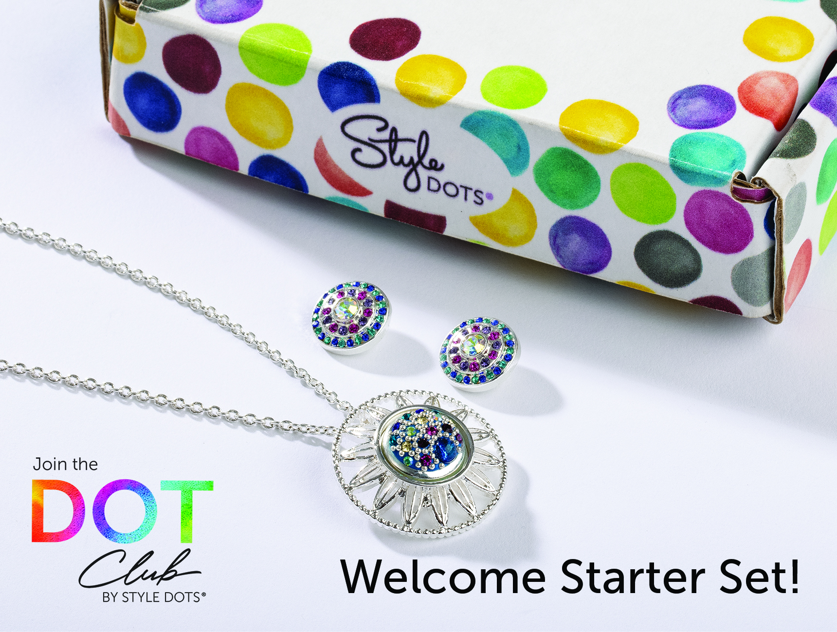The Style Dots Logo box is shown with the Welcome Starter Set